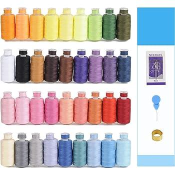 Nueva simthread 6/color blanco hilo de poli/éster para m/áquina de coser para Brother Babylock Pfaff Janome Singer Bernina y otros M/áquinas de casa
