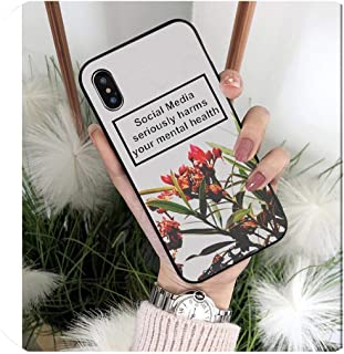 Social Media Seriously Harms Your Mental Health Phone Case for iPhone X Xs Max 6 6S 7 7Plus 8 8Plus 5 5S Xr,iPhone 11,A10