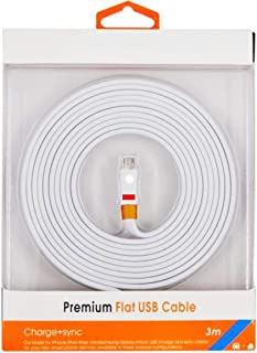 Premium Flat USB cable for Lightning / Micro 3meter for fast data transfer and charging