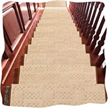 JIAJUAN Stair Carpet Treads Rectangle Thicken Non-Slip Self-Adhesive Rugs Stair Tread, 14mm, 4 Styles, 5 Sizes, Customizab...