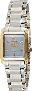 سيتيزن ساعة رسمية للنساء انالوج بعقارب ستانلس ستيل - EW5554-82D