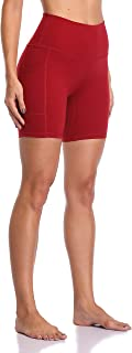 "Colorfulkoala Women's High Waisted Yoga Shorts with Pockets 6"" Inseam Workout Shorts"