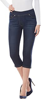 LUXE DENIM SLIMS Notch Capri Jeans