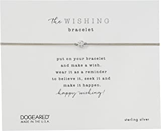 Dogeared Womens The Wishing Bracelet, Sparkle Ball On Cord