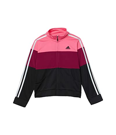 adidas Kids Color-Block Tricot Jacket (Big Kids) (SS Pink) Girl