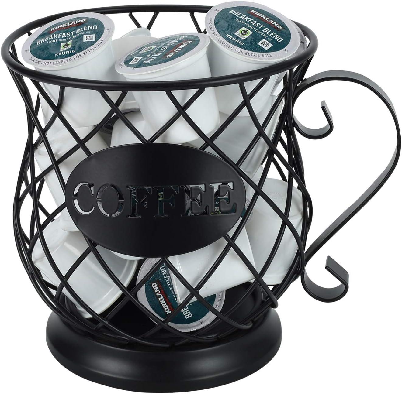 Black Laoife Coffee Pod Holder with Round Base Coffee Espresso ...