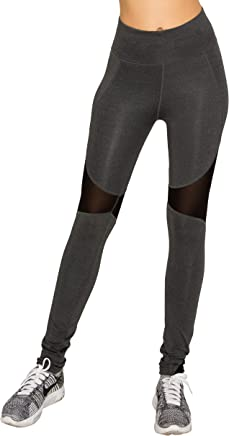 EttelLut Workout Yoga Athletic Mesh Leggings-Cutout Gym Zumba Women Activewear