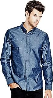 GUESS Mens Owens Slim-Fit Shirt (XX-Large, Navy Blazer)