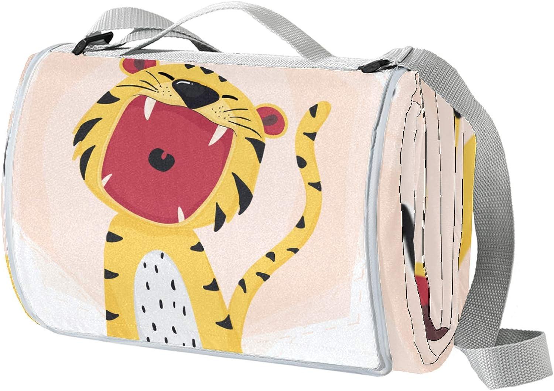 HadHfun Large Picnic Blanket favorite Little Beach Tiger Cute B Cheap SALE Start Oversized