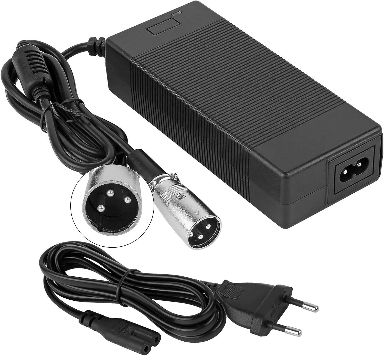 YAOBLUESEA 42V 2A Cargador de batería de para la Vespa eléctrica de la E-Bici 36V 10AH Cargador de batería de ión de Litio del Litio Poder del Adaptador …