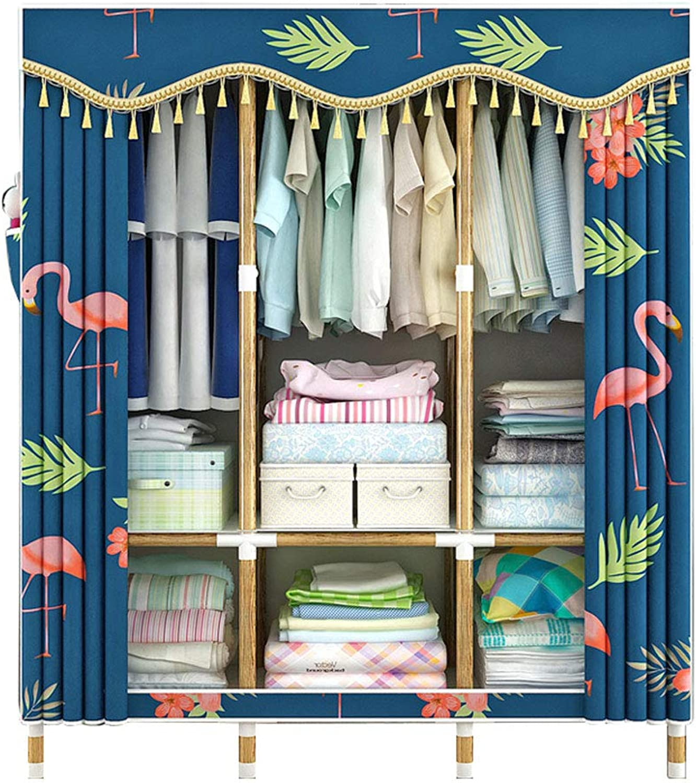 Simple wardrobe Simple wardrobe Solid Wood 130  45  170CM Wardrobe Simple Assembly Wardrobe Storage Cabinet (color   D)