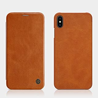 Nillkin Qin Flip Leather Case For Apple iPhone XS Max, Brown