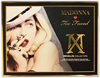 Madonna by Too Faced Medellin Makeup Collection! Includes Eyeshadow Palette, Lipstick, Highlighter, Eyeliner And Mascara! Limited Edition & Sold Out Everywhere! Choose Your Makeup Set! (Medellin)