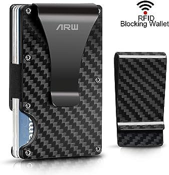 ARW Men's Carbon Fiber RFID Blocking Wallet