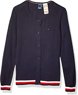 Tommy Hilfiger Adaptive Womens 7699346 Cardigan with Magnetic Buttons Sweater