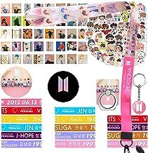 Bangtan Boys Merchandise for Army Girls 15 Bracelet 40 Photocard 40 Stickers 1 Lanyard 1 Keychain 2 Pins 1 Phone Rings