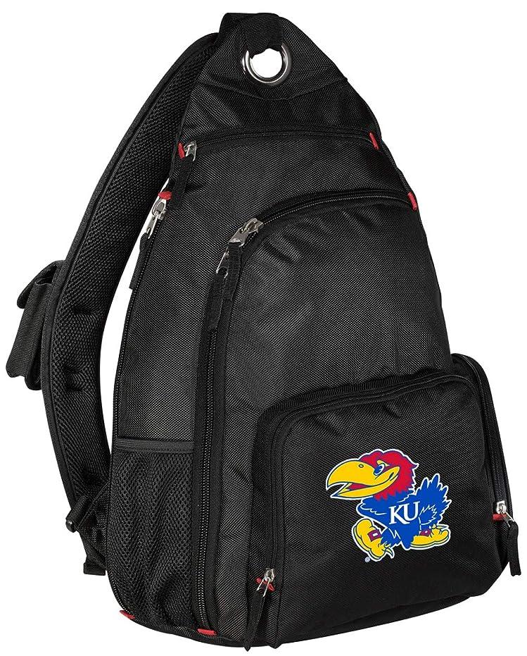 ペイント枯渇するについて大学のカンザスバックパックSingle Strap Kansas Jayhawksスリングバックパック