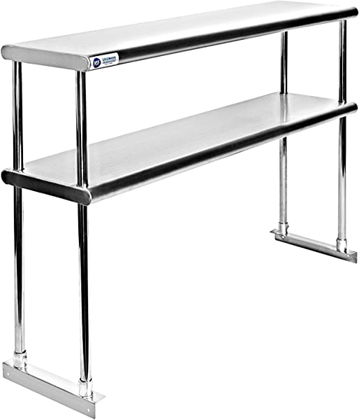Adjustable Double Overshelf 12 X 24 Stainless Steel For Work Table