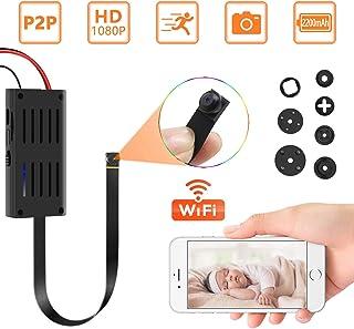 Cámara espía ocultada P2P cámara inalámbrica Super Mini 1080P Video de Seguridad con detección de Movimiento App Control para iOS y Android