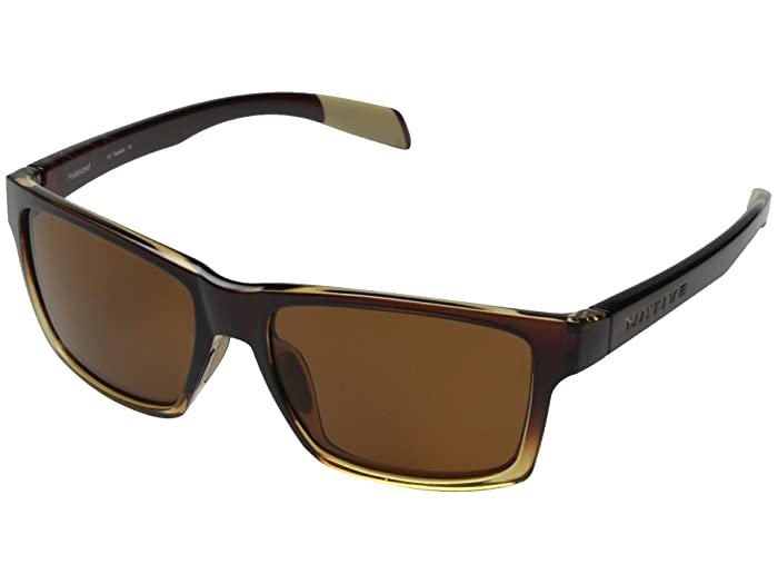 Native Eyewear Flatirons (Stout Fade/Brown) Sport Sunglasses
