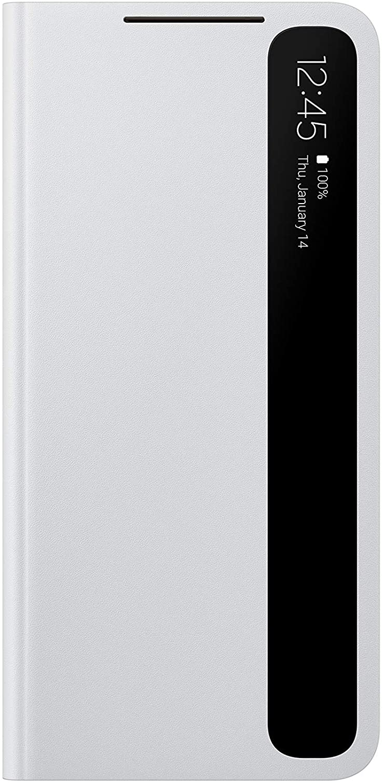 Samsung Galaxy S21 Case, S-View Flip Cover - Gray (US Version)