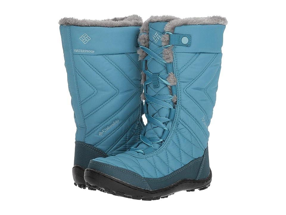 Columbia Kids Minxtm Mid III Waterproof Omni-Heattm (Little Kid/Big Kid) (Canyon Blue/Iceberg) Girls Shoes