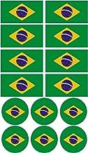 Haberdashery Online 28 Pegatinas de la Bandera de Brasil. Stickers para Bicicletas, Motos, Accesorios (Brasil)