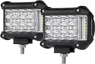 "Auxbeam 4"" Side Shooter LED Pods 19W2Pcs LED Light Bar Off Road Light Pods with 19pcs 1w Led Chips Spot Flood Combom Beam (Pack of 2"
