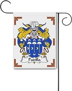 Carpe Diem Designs Padilla Coat of Arms/Padilla Family Crest 11 X 15 Garden Flag – Made in The U.S.A.