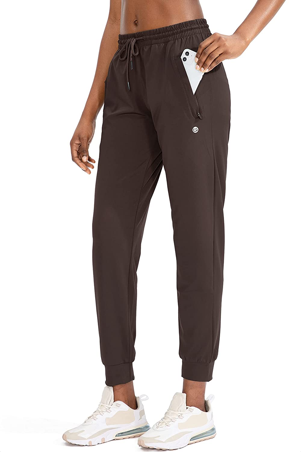 G Gradual Women's Joggers Pants with Zipper Pockets Tapered Running Sweatpants for Women Lounge, Jogging: Clothing