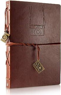 ThxMadam Album Scrapbooking, Voyage Album Photo en Cuir Vintage Bricolage Auto-adhésif Photo Livre Rétro Spéciales Cadeaux...