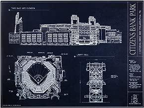 Citizens Bank Park Blueprint Style Print