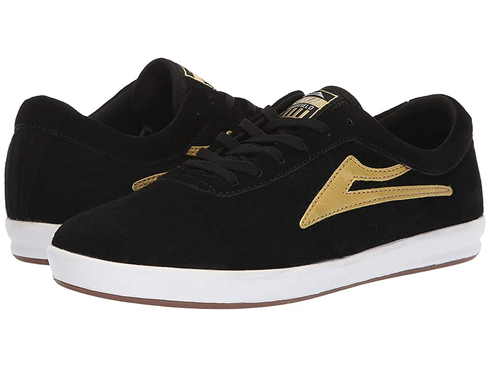 Lakai Sheffield XLK (Black/Gold Suede) Men
