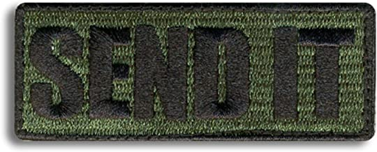 Bastion Tactical Combat Badge Military Hook and Loop Badge Embroidered Morale Patch - Send It ODG