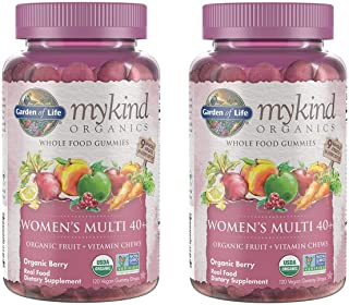 MyKind Organics Women's Multi 40+ Whole Food, Organic Vitamin Chews in Delicious Organic Berry (120 Vegan Gummy Drops) Pac...