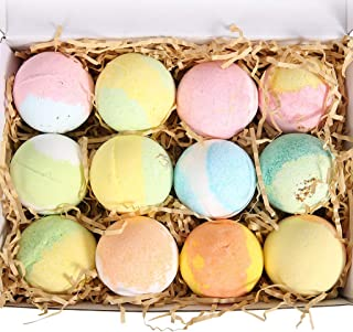 Ovonni Bath Bombs Gift Set, Essential Oil Natural Ingredients, 12 Scents for Different Effects to Moisturize Dry Skin, Home Spa to Relieve Stress -Perfect Gift Ideas for Girlfriends Moms Wife, 3.8 oz