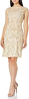 Pisarro Nights womens SHORT EMBROIDERED DRESS Special Occasion Dress