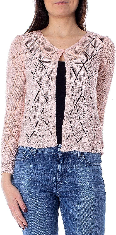 One.0 Women's OZ18PINK Pink Acrylic Cardigan