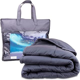 Polar Night Verzwaringsdeken voor volwassenen - Zware deken met glasparels, Microvezel, Oeko-TEX® 100 standaard - Ademend,...