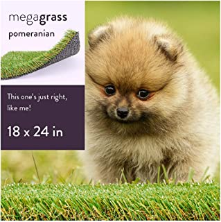 MEGAGRASS Pet Turf for Extra Small, Medium, Large, and Extra Large Dogs - Indoor and Outdoor Artificial Grass Patch and Synthetic Puppy Potty Pee Pads