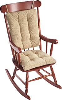 Klear Vu Out Out west Rocking Chair Pad Set, Seat: 17 x 17 x 3 inch Seat Back: 17 x 23 x 3 inch, Linen
