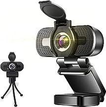 Full HD Webcam 1080P Videokamera mit Abdeckung Autofokus USB Webcam mit Mikrofon Plug and Play Webkamera für Desktop Mac K...