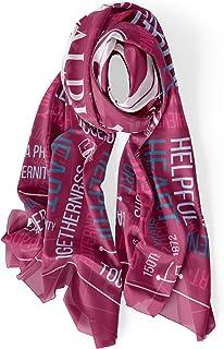 BBGreek Alpha Phi نادي نسائي - أغطية شال للنساء - كريب شيفون إكسسوار هدايا للنساء - الذكرى الخمسة والأربعين - مرخص رسميًا