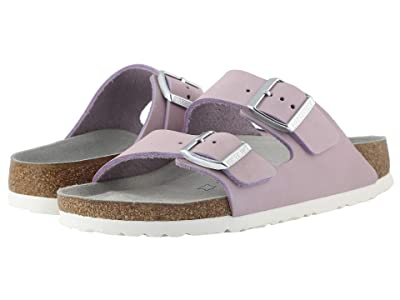 Birkenstock Arizona Soft Footbed (Lilac Nubuck) Women