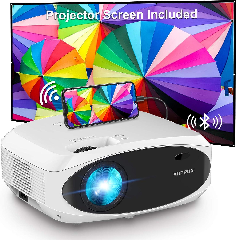 "Xoppox 1080p  100""  Native 7500-Lumen Projector  $99.99 Coupon"