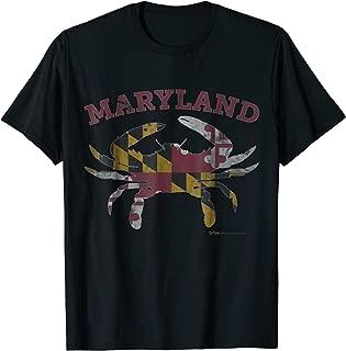 Vintage Maryland State Blue Crab Pride Flag T-Shirt