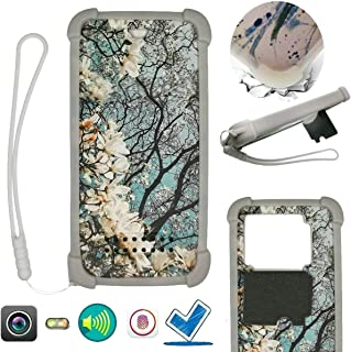 Case For Tecno Pop 3 Plus Case Silicone border + PC hard backplane Stand Cover HDSK