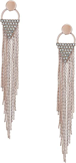 GUESS - Chain Fringe Linear Earrings