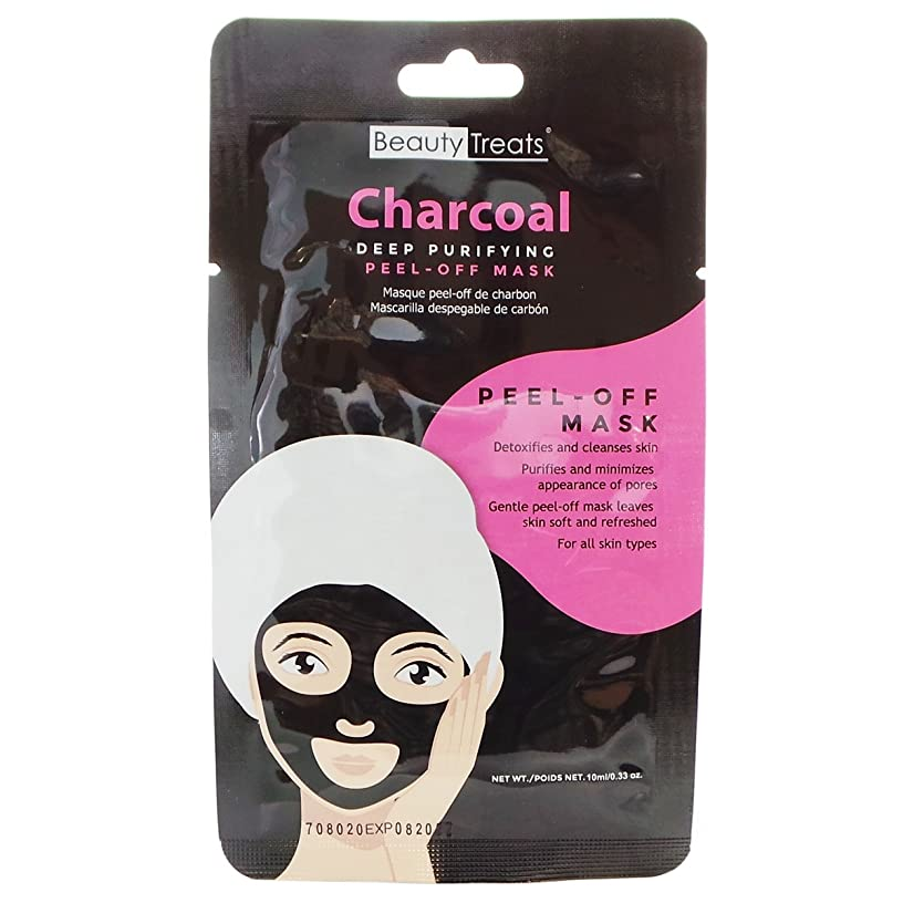 クレタアストロラーベ惑星BEAUTY TREATS Deep Purifying Peel-Off Charcoal Mask (並行輸入品)