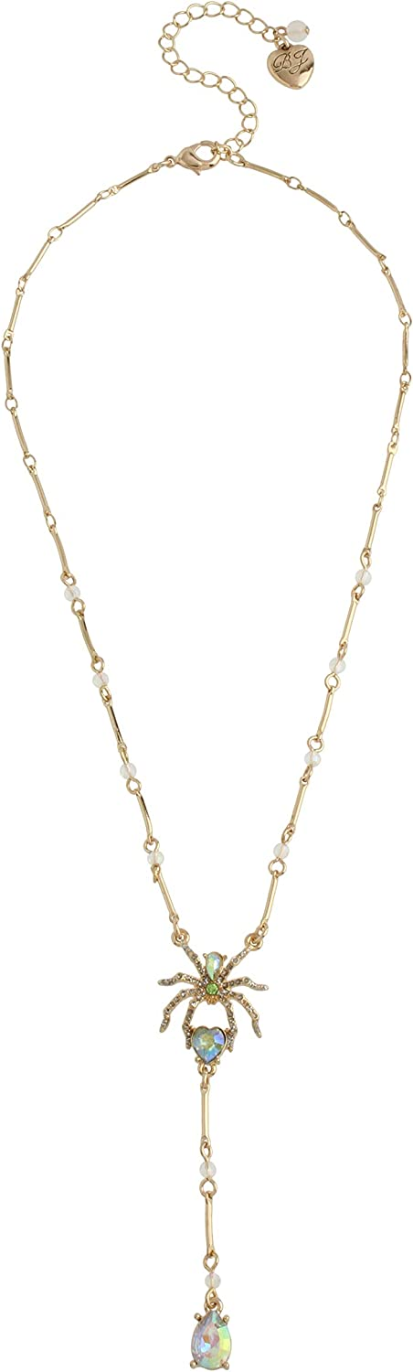 Betsey Johnson Spider Y-Necklace